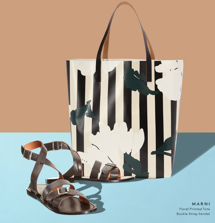 Meet your new summer go-tos: shop shoes and bags by Marni.