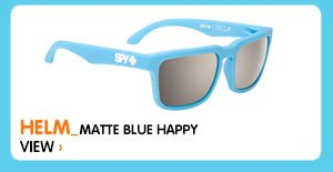 Helm Matte Blue Happy