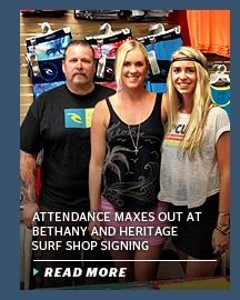Attendance Maxes Out at Bethany and Heritage Surf Shop Signing