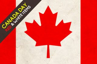 Canada Day: Red & White Items