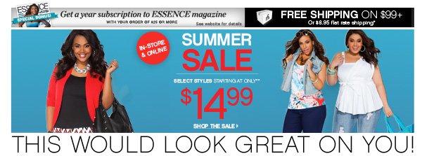 $14.99 Summer Sale