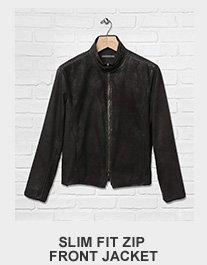Slim Fit Zip Front Jacket