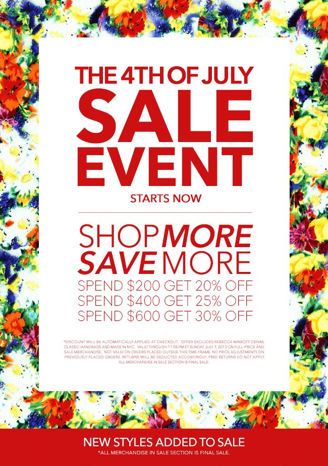 The 4th of July Sale Event Starts Now