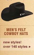 Men's Felt Cowboy Hats
