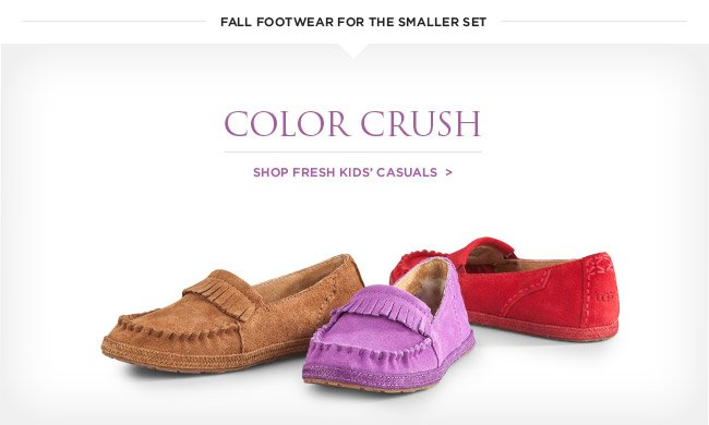 Color crush - shop fresh kids' casuals