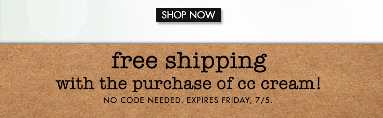 shop now and get free shipping with CC cream
