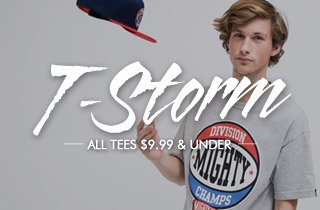 T-Storm: All Tees $9.99 & Under