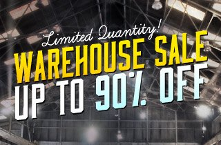 Limited Quantities: Up to 90% Off