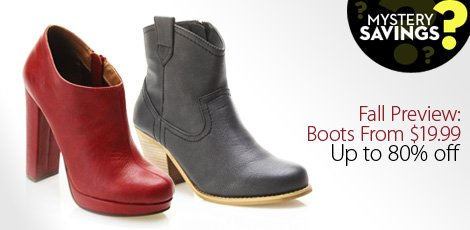 Fall Preview: Boots From $29.99