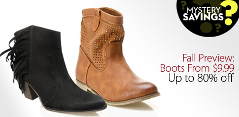 Fall Preview: Boots From $9.99