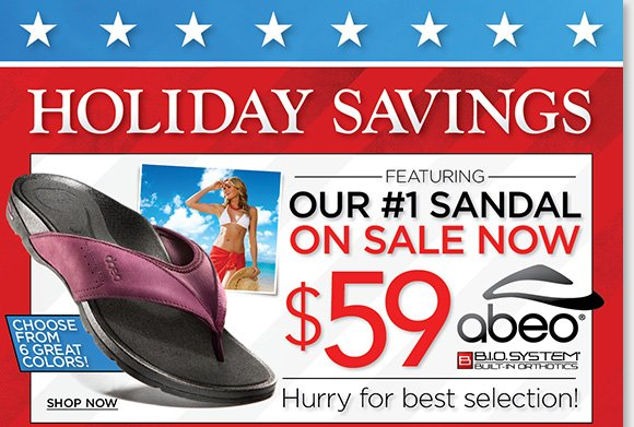 Our Holiday Savings continues! Get the #1 ABEO B.I.O.system 'Balboa' featuring a custom 3-D fit for just $59. Plus, save on 100's of NEW markdowns on Dansko, ECCO, Raffini, and more during our Summer Sale. Find the best selection when you shop online and in-stores at The Walking Company.