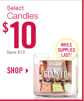 Select 3-Wick Candles – $10