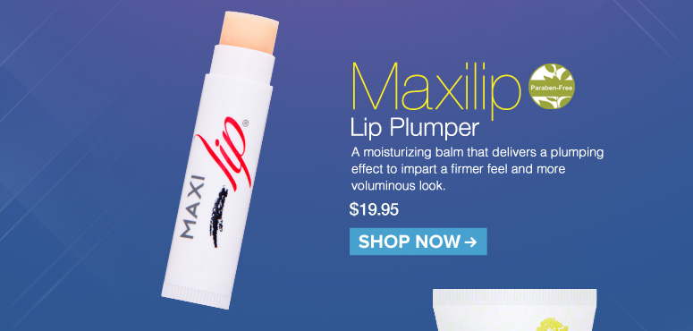 Paraben-free Maxilip Lip Plumper A moisturizing balm that delivers a plumping effect to impart a firmer feel and more voluminous look.  $19.95 Shop Now>>