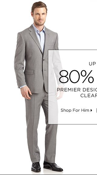 Up To 80% Off* Premier Designer Apparel Clearance