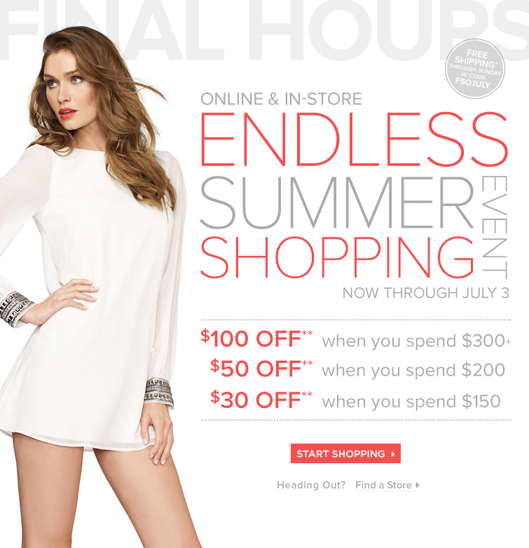 Start Shopping Now and Save!