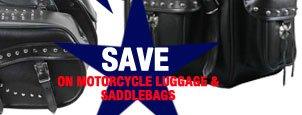 Save on Motorcycle Luggage and Saddlebags