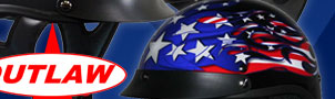 SAVE on Outlaw Patriotic Graphic Half Helmets