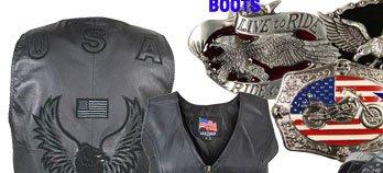 Save on Biker Belt Buckles and Motorcycle Vests