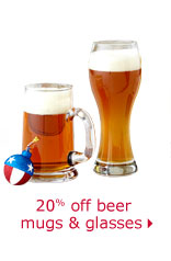 20% off beer mugs & glasses