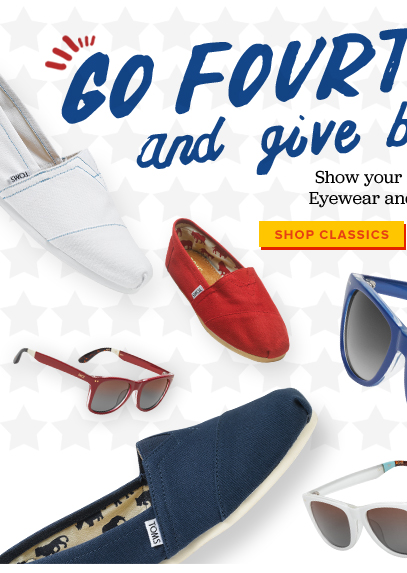 Go Fourth and give back - Shop Classics