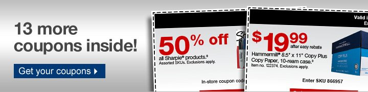 XX more  coupons inside!  Get your coupons.