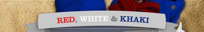 RED, WHITE & KHAKI