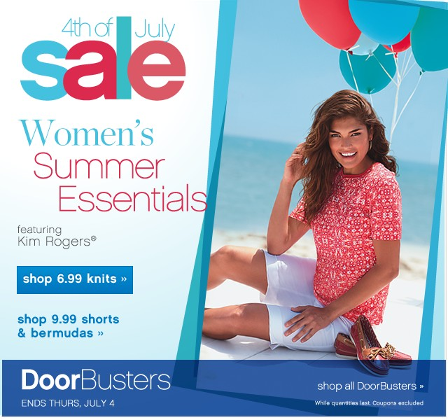 4th of July Sale. Women's Summer Essentials.
