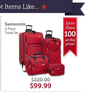 Samsonite 4 Piece Travel Set. Shop Now.