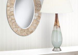 Beach House Décor: Lamps & Mirrors