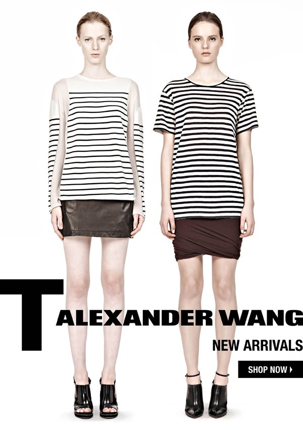 T by Alexander Wang, New Arrivals, shop now.