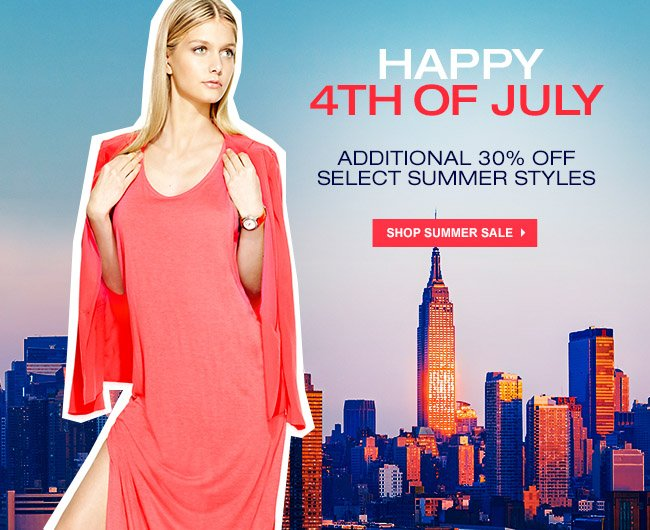 30% OFF SUMMER COLLECTION