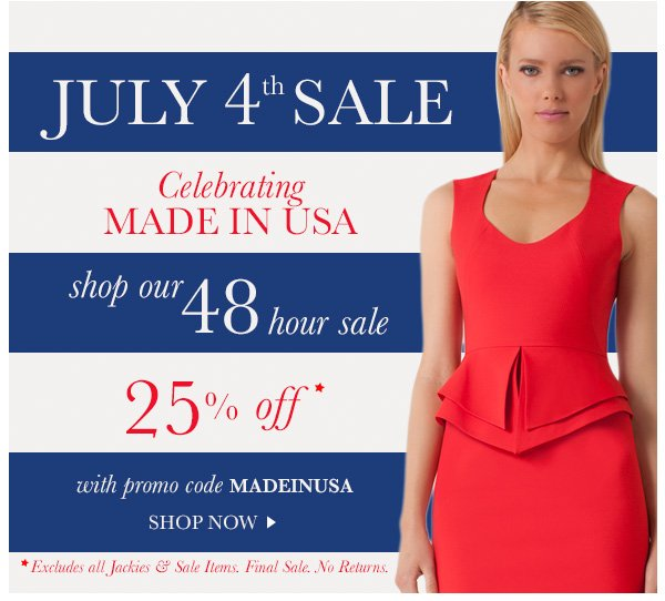 25% Off with Code MADEINUSA