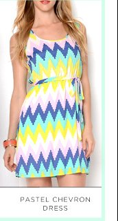 Pastel Chevron Dress