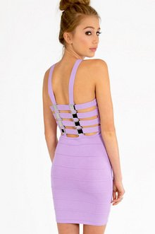 OCTOMETAL LATTICE BANDAGE DRESS 53