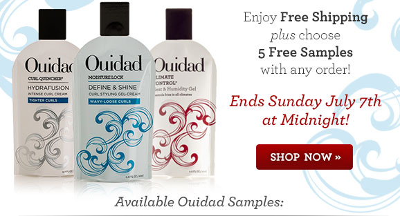 Enjoy Free Shipping plus choose 5 Free Samples with any order! Ends Sunday July 7th at Midnight! Shop Now