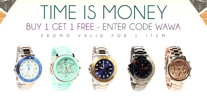 Time Is Money: Wallets, Watches, & Bracelets