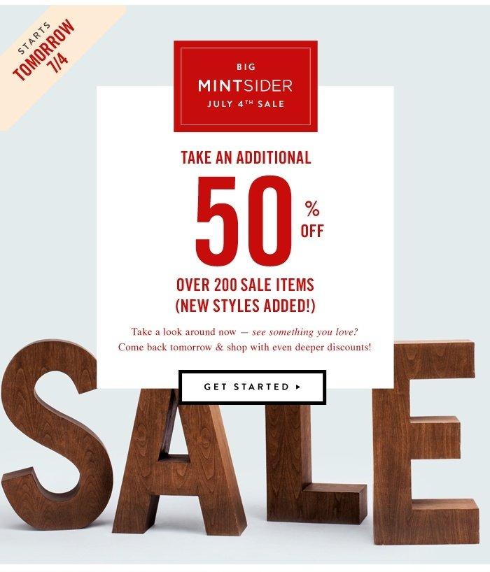 Big MintSider Sale Starts Tomorrow