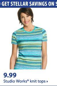 Use your coupon to get stellar savings on summer must-haves. 9.99 Studio Works® knit tops.