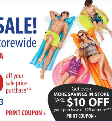 4th of July Sale - Now through Sunday, July 7. Up to 60% off storewide! Plus, take up to an extra 30% off your sale price purchase** Print coupon.