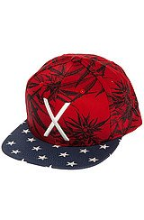 The Larger Living Snapback Hat in Red Mary Jane