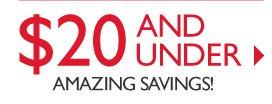 $20 AND UNDER -- AMAZING SAVINGS!