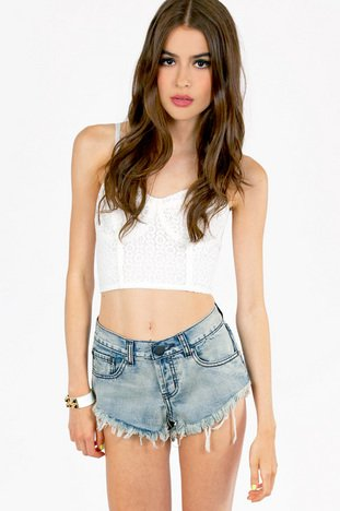 BEVERLY DENIM SHORTS 32