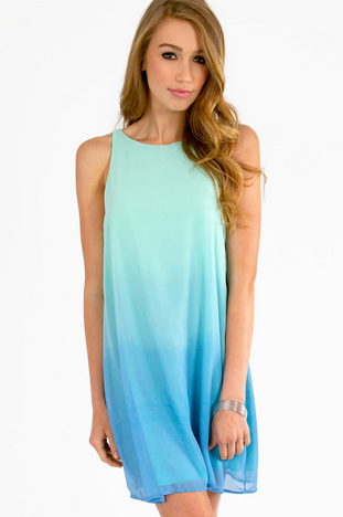 WAVES OF OMBRE SHIFT DRESS 33