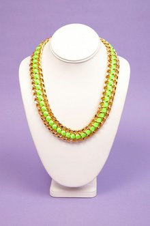 INTERWOVEN RIBBON CHAIN NECKLACE 16