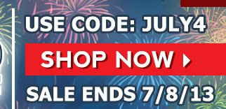 INDEPENDENCE DAY WEEKEND SALE 20% OFF USE CODE JULY4