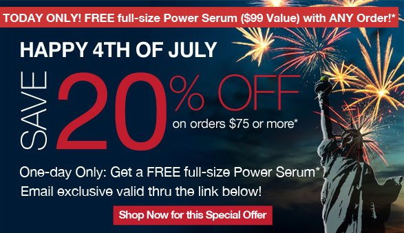 happy 4th of july save 20% off