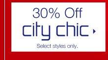 30% Off city chic