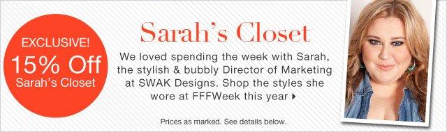 Exclusive! 15% Off Sarah's Closet