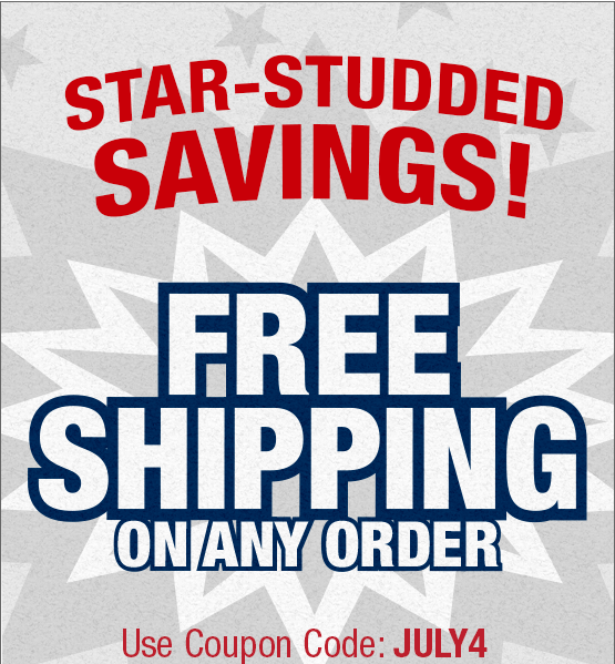 Star Studded Savings. Free Shipping on any order