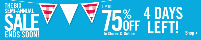 Up To 75% Off Select Items
